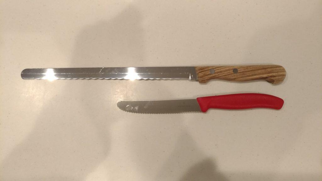 ベジタブルナイフ 長さ比較